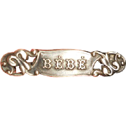 Victorian Silver Bebe Pin
