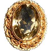Vintage Topaz Cocktail Ring