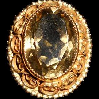 Vintage Topaz Cocktail Ring