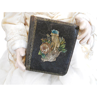 Victorian Lithograph Book Form Sewing Box
