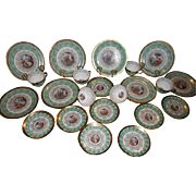 Gorgeous LeMieux China 24 Karat Gold Circa 1940s - 8 piece place setting