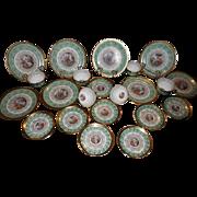 Gorgeous LeMieux China 24 Karat Gold Circa 1940s - 8 piece place setting
