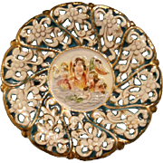 Capodimonte Pedestal Decorated Dish