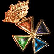 Vintage Accessocraft Maltese Crown Brooch/Pendant