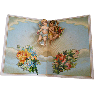 Victorian Die-Cut Angel Pop-Up Card
