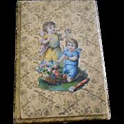Unusual Victorian Die-Cut Cardboard Box with Cards