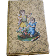 Unusual Victorian Die-Cut Cardboard Box with Cards