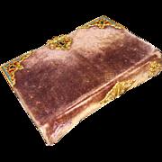 Antique French 'Petit Paroissien' Velvet Enameled Ormolu Missels de Marie