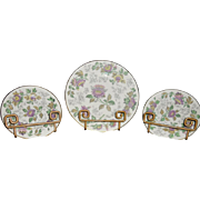 Wedgwood 'Avon' Luncheon China Plate with Two Smaller Plates