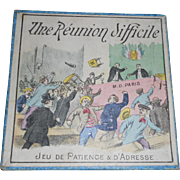 Antique French Childrens Game in Original Small Lithograph Box