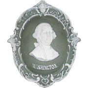 Art Nouveau George Washington Jasperware Plaque Relief