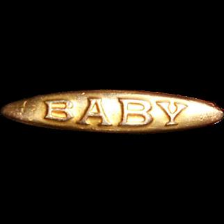 Charles Horner Rolled Gold Bebe Pin, c.1900