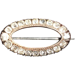 Georgian Small Oval Paste Pin