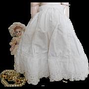 Victorian White Cotten Doll Underskirt