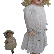 Victorian White Eyelet Drop Waist Doll Dress