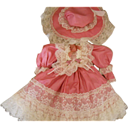 Vintage LE Lacy Doll Dress and Matching Hat