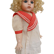 Vintage Red Sailor Temple-Type Doll Dress