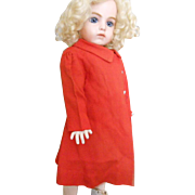Vintage Red Cotten Doll Coat