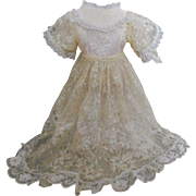 Pretty Vintage Soft Lace Doll Dress