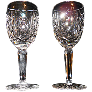 Waterford Cut Crystal Wine Glasses - Set of Two