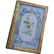 Antique French Miniature Hand Painted Opaline Box