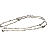 Long and Lovely Art Deco Faceted Crystal Necklace