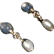 Vintage French Goossens (Chanel Designer) Gripoix Drop Earrings