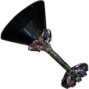 Vintage Jeweled Martini Glass