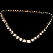 Georgian Paste Riviere Collar Necklace