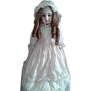 Antique Doll Dress with Bonnet
