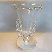 Heisey Lariat Crimped Footed Vase