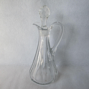 Heisey Medium Flat Panel Oil/Cruet