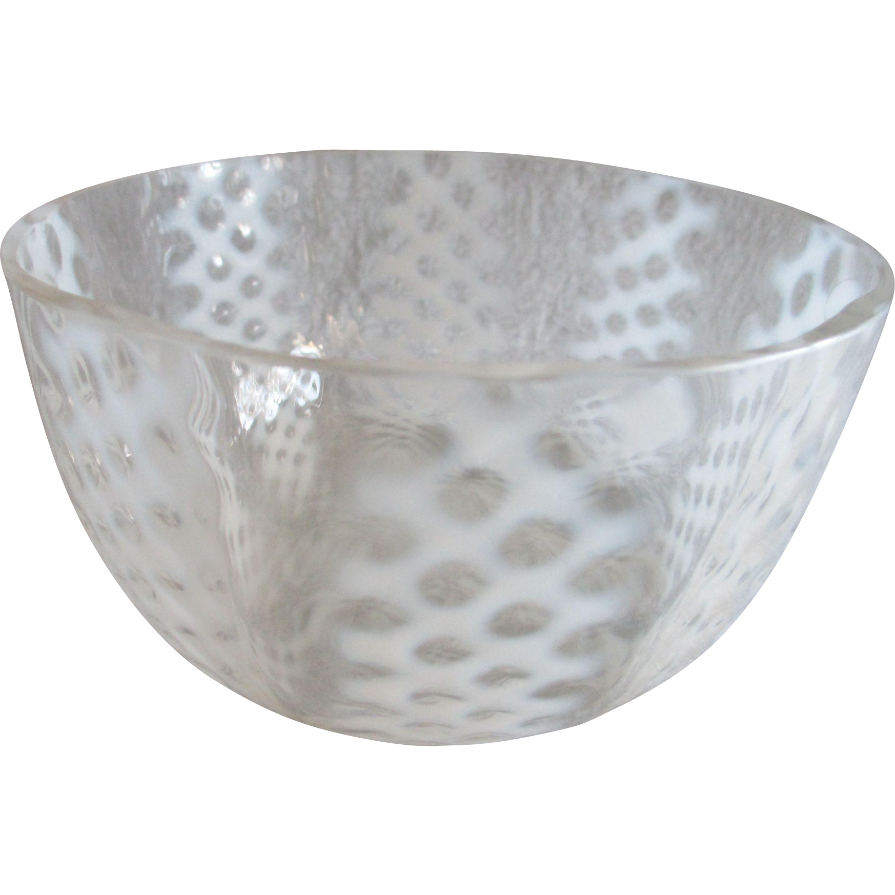 White Opalescent Glass : Consolidated lamp and glass co white opalescent criss