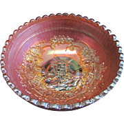 Imperial Windmill Marigold Carnival Glass Bowl