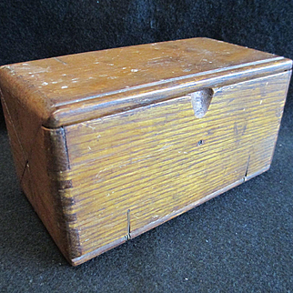 Singer Wooden Puzzle Box and Sewing Machine Accessories