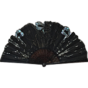 French Antique Art Nouveau Opera Fan c.1910
