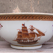Chinese Export Bowl with American Ship