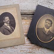 Photographs of Two Dapper African American Gentlemen, ca. 1900