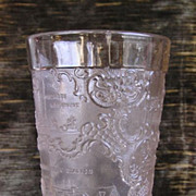Pressed Glass Tumbler, 1904 Louisiana Purchase Exposition Souvenir
