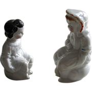 Two Victorian China Potty Figures