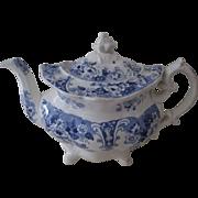Blue & White Staffordshire Teapot