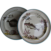 Pair of Victorian Fish Plates