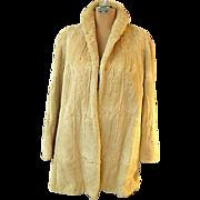 Beautiful 1960s Sheared Muskrat Fur Swing Coat