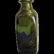 1976 Signed George Elliott Studio Art Glass Bottle from Bewdley