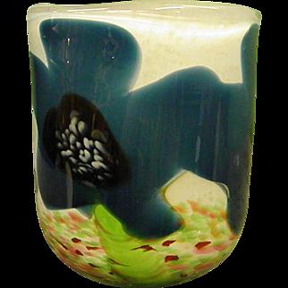 Early Glasshouse Covent Garden Studio Art Glass Vase