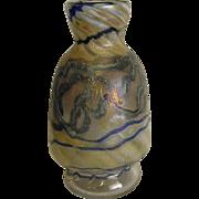 Early Glasshouse Covent Garden Studio Art Glass Vase, Signed