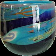 Signed Irving Slotchiver Handblown Studio Art Glass Vase