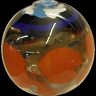Signed Pauline Solven Studio Art Glass Vase Dated 1979 from Ravenshill Studio