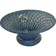 Signed Bertil Vallien Controlled Bubble Art Glass Bowl for Boda