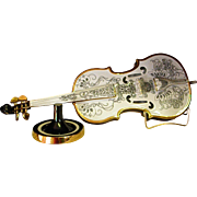 Rare Hollohaza Porcelain Violin designed by Artist Endre Szasz